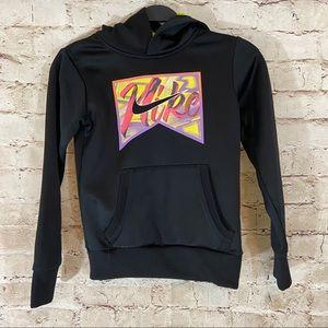 Girls black Nike hoodie sweatshirt size small
